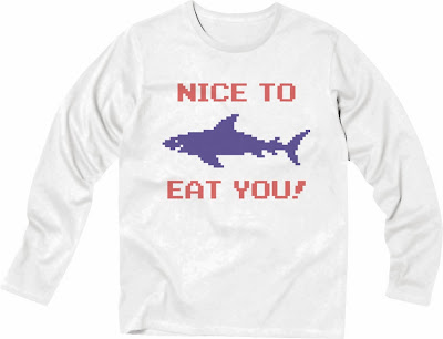 Pixel Party Boy「Nice To Eat You!」[Stylish Long sleeve] 4.3oz | T-SHIRT COUNCIL