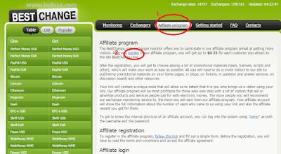 Klik affiliate kegiatan lalu register
