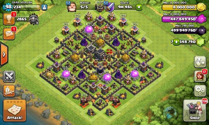 Base Coc Th 9 Pertahanan Terkuat 9