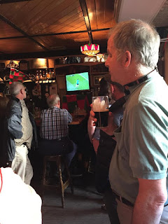 Watching an Irish football natch Dublin
