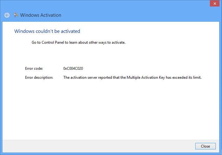 Windows Activation Code 0X80070005 - menuinstalzone