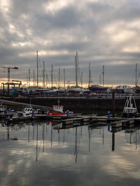 Photo of reflections at Maryport Marina
