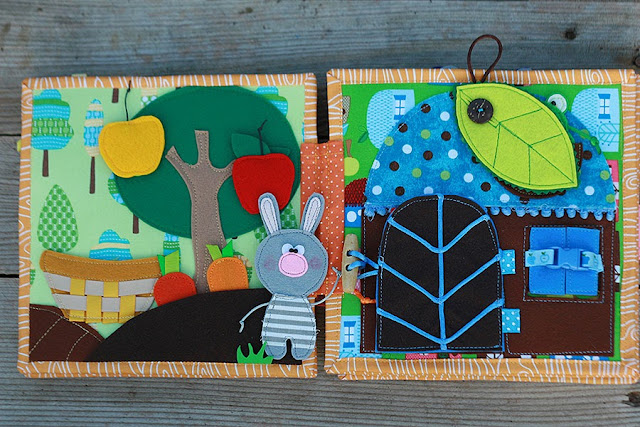 Quiet book for Madeline, handmade fabric cloth busy book TomToy, развивающая книжка