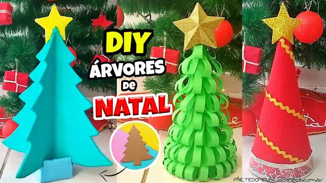 diy árvores de natal