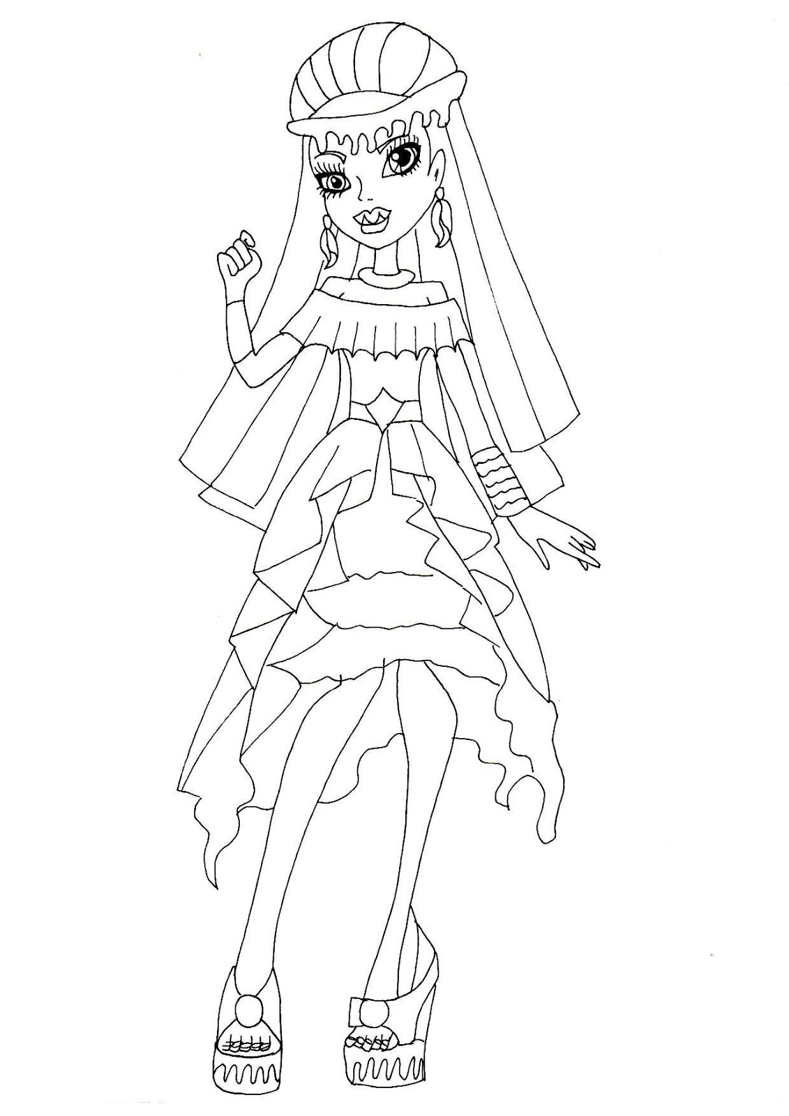 Free Printable Monster High Coloring Pages Abbey Bominable 13 Wishes Coloring Sheet