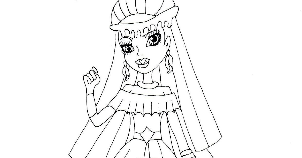 Free Printable Monster High Coloring Pages: Abbey