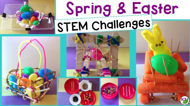 Five STEM Challenges perfect for Easter or spring! Modifications included for grades 2-8.