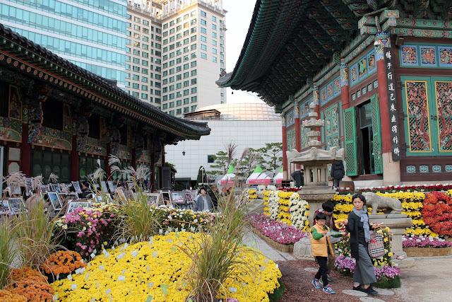 Insadong temple in Seoul, Korea
