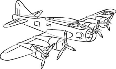 Cartoon Pictures: How to Draw World War II Planes in 7 Steps