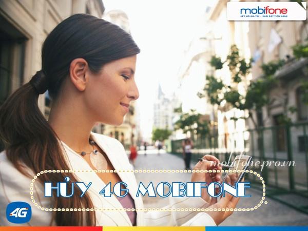 Hướng dẫn hủy các gói 4G Mobifone