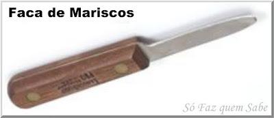 Foto de uma Faca de Mariscos que em inglês é chamada de Clam Knife