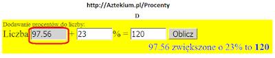 Jak obliczyć 23 procent vat
