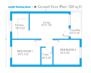 2 bedroom home plan