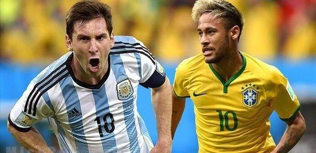 موعد مباراة البرازيل والأرجنتين والقنوات الناقلة لمباراة البرازيل والأرجنتين