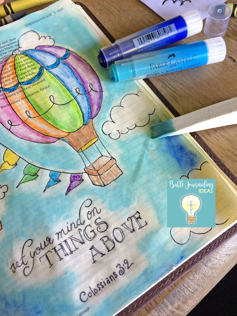 bible journaling: hot air balloons