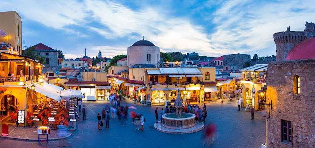 Cidade de Rodes, na Grécia