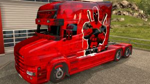 DeadPool paint job for Scania T (EviL)