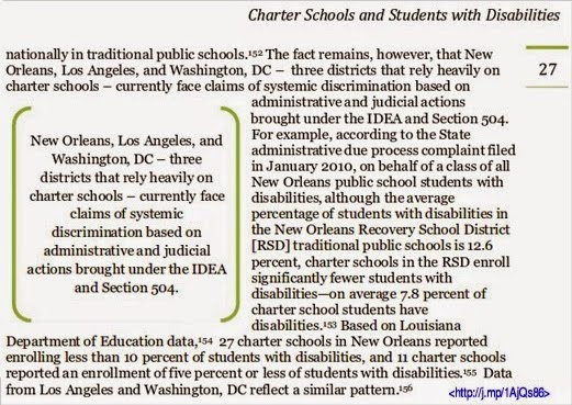California Charter Schools Association (CCSA) and Ref Rodriguez's vile campaign against Students with Disabilities (SWD) and their champion on the Los Angeles Unified School District (LAUSD) Board, the Honorable Bennett Kayser