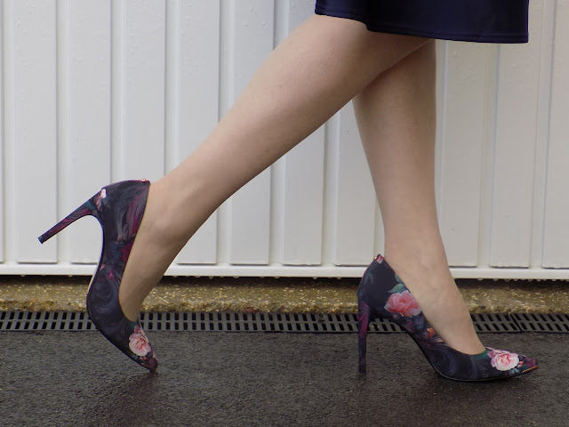 Ted Baker Neevo pink and black floral shoes