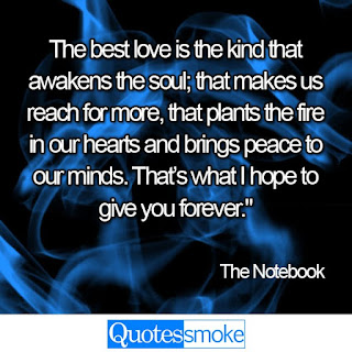 The Notebook Love quote