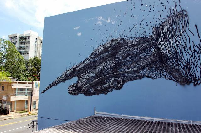 Street Art By Chinese Artist DALeast For Los Muros Hablan '13 In Puerto Rico. 8