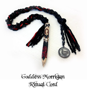 Goddess Morrigan Ritual Cord from MoonsCrafts