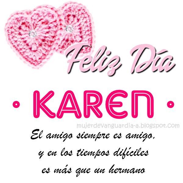 Tarjeta de Feliz Día Amiga Con Nombre de mujer LETRAS J