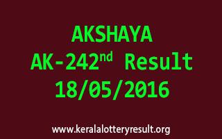 AKSHAYA AK 242 Lottery Result 18-5-2016