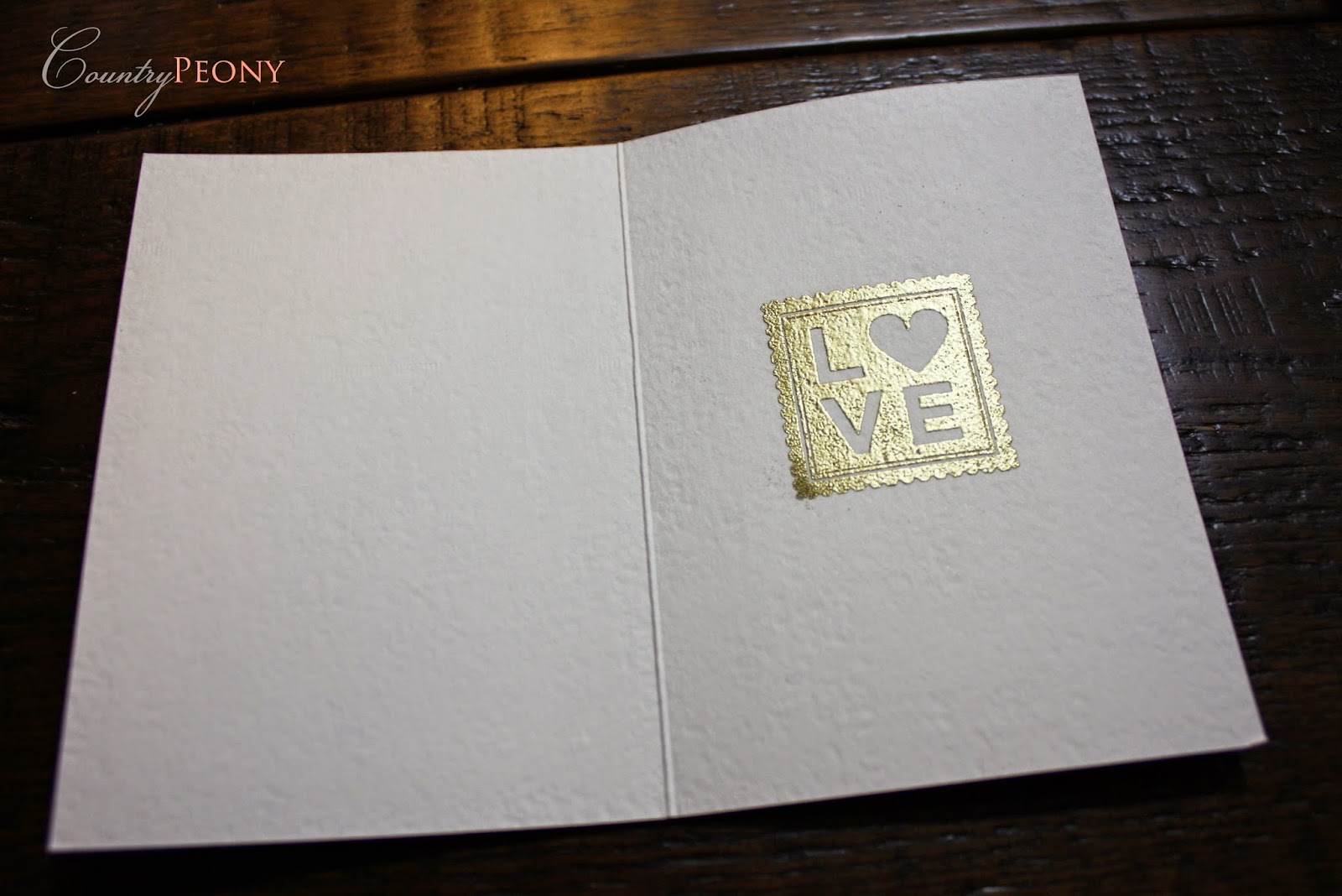 Gold Love Stamp