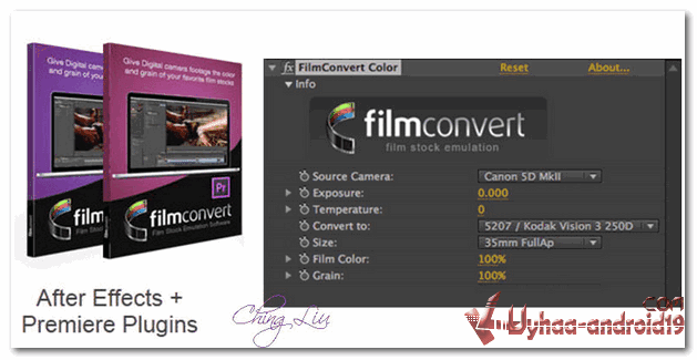 FilmConvert Pro Plugin After Effect Premiere