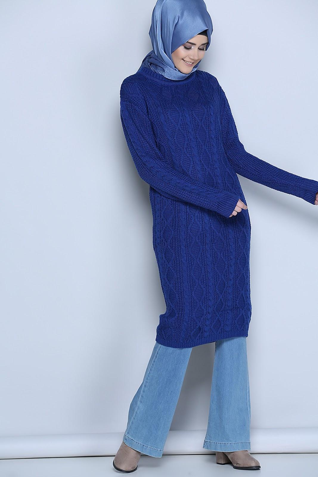 Tuniques Sp Cial Hiver Pour Hijab Moderne Style 2018
