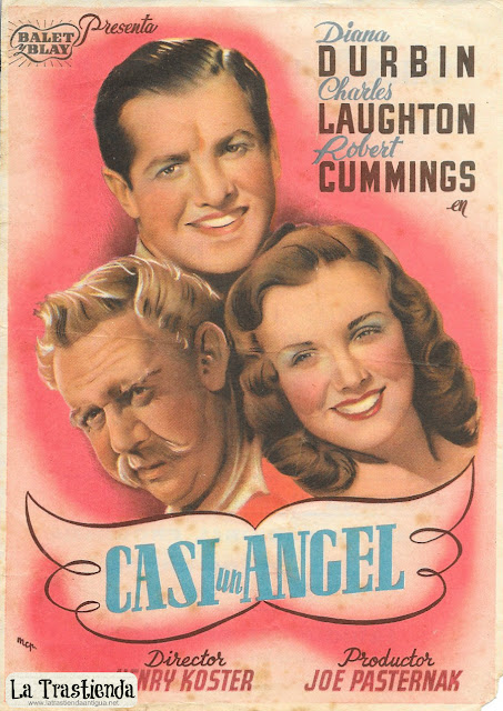 Casi un Angel - Programa de Cine - Diana Durbin - Charles Laughton - Robert Cummings