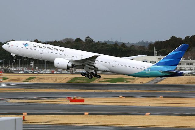 Garuda Indonesia Boeing 777-300ER Takeoff