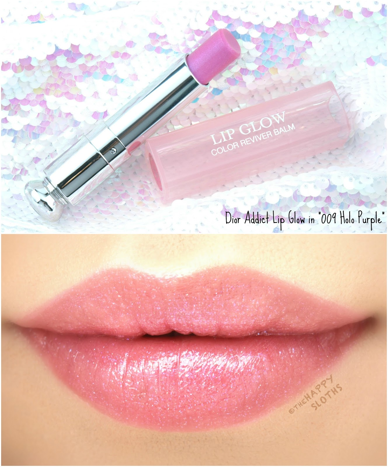 "Dior Addict Lip Glow Color Reviver Balm in ""009 Holo Purple"": Review and Swatches"