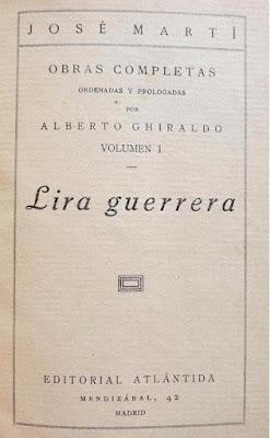 Portada de Lira guerrera, libro publicado por la editorial Atlántida