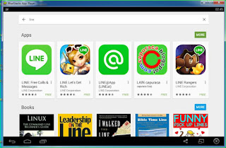 Line di PC dengan bantuan Bluestacks,cara line di pc,