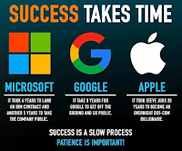 success takes  time