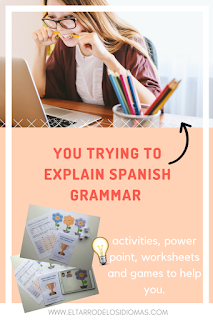 teach grammar in spanish lesson. how to teach spanish grammar. Enseñar a conjugar en clase de ELE. COntenidos gramática en clase de español #spanishteacher #teachmorespanish profe de ele