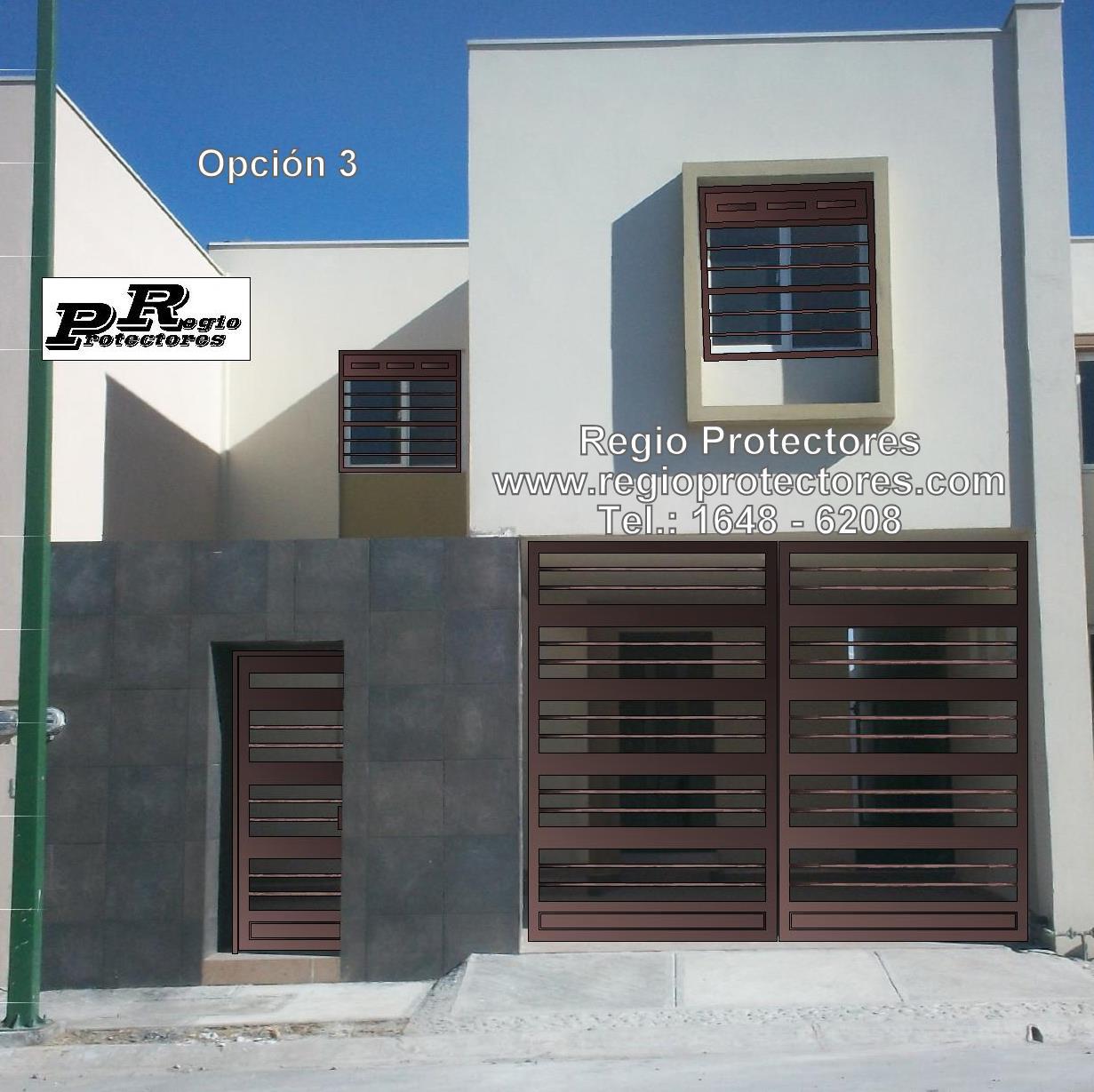 Disenos Puertas Frente Casa 25: Regio Protectores: Foto Montaje, Protectores Para Ventana