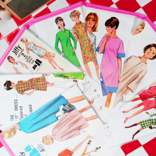 vintage sewing pattern butting