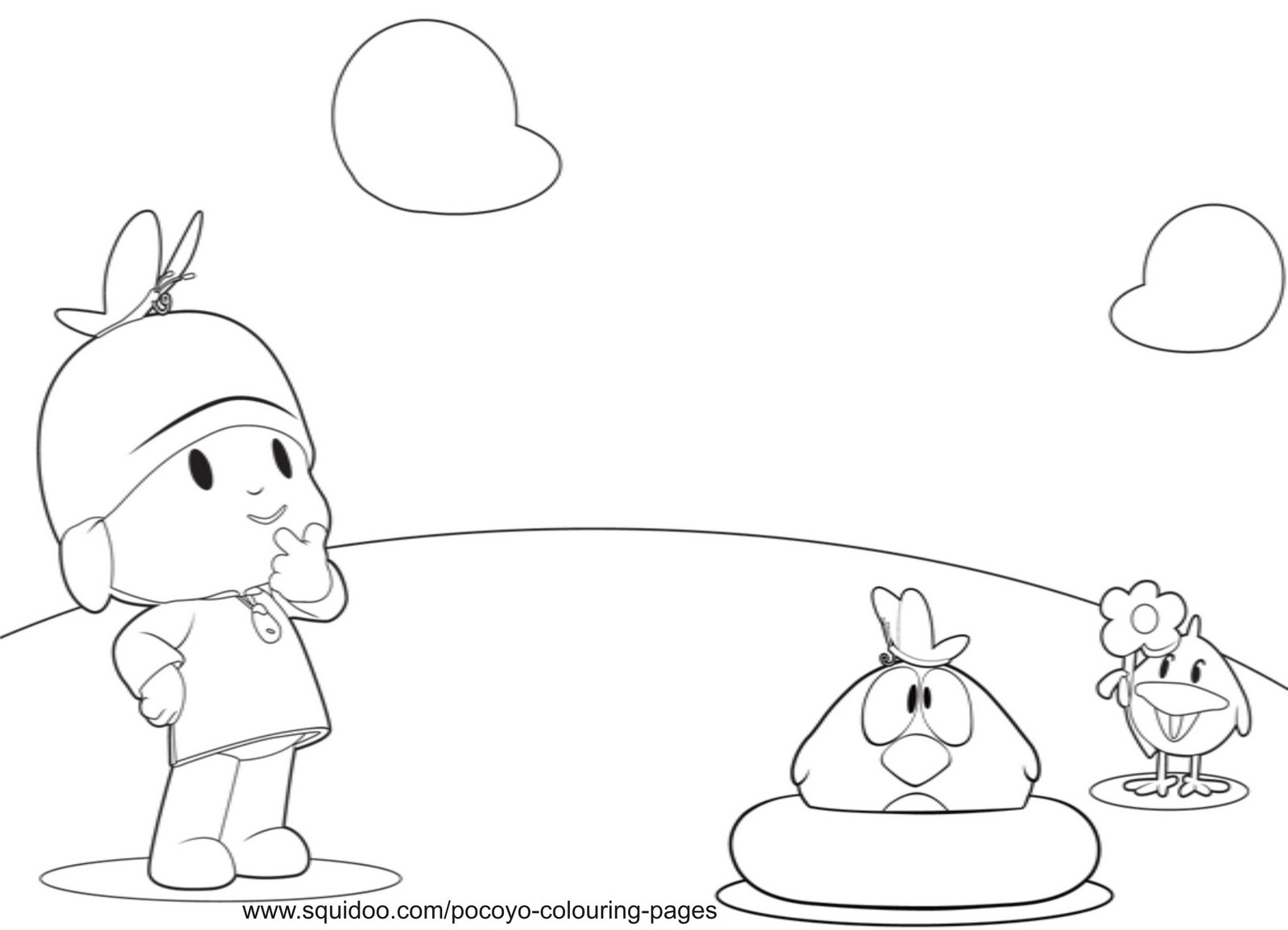 Pocoyo and friends coloring pages ~ Pocoyo Coloring Pages ~ Free Printable Coloring Pages ...