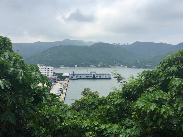 Views of Mui Wo ferry pier from the Lantau Trail from Mui Wo to Pui O, Hong Kong