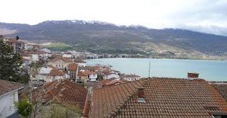 Las vistas del Lago ohrid desde nuestro alojamiento.