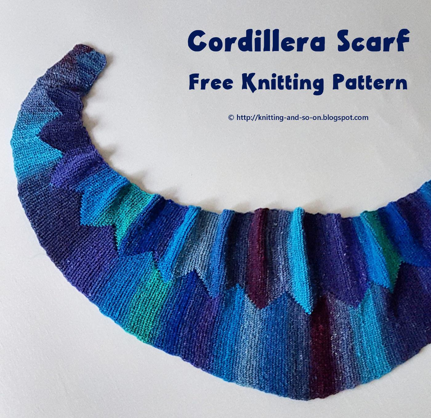 Knitting Pattern Notation : Knitting and so on: Cordillera Scarf