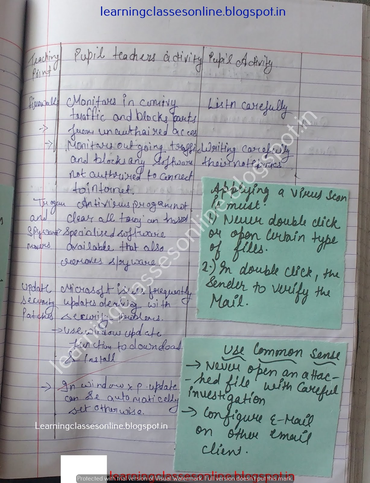 Example Of Lesson Plan In Computer Subject,
