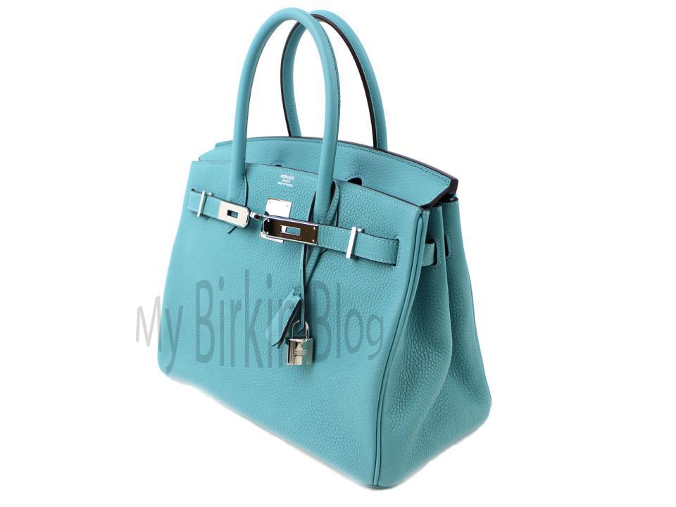 b979defb832 Blue Saint-Cyr. 30 CM Birkin in Blue Saint-Cyr. Clemente Leather. Palladium  Hardware