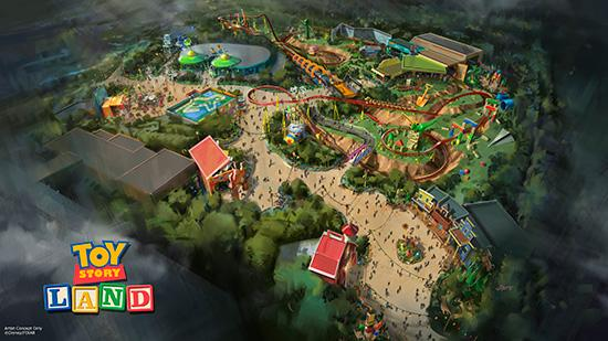 Toy Story Land overview concept art