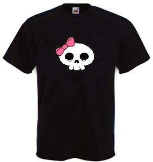 maglietta scheletrina