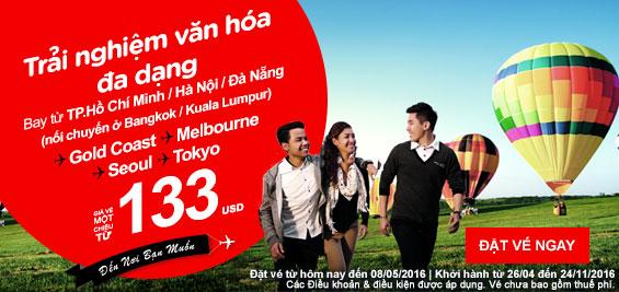 Khuyến mãi Air Asia 133 USD