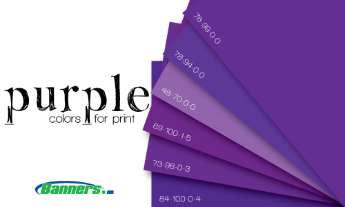 Purple CMYK Colors for Digitally Printed Banners